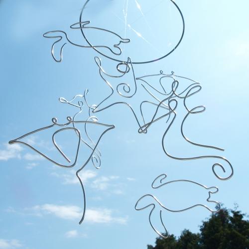 Závěsná dekorace MOŘE - na kruhu
